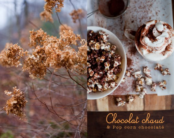 Chocolat chaud & Pop Corn chocolaté