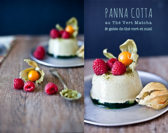 Battle Food / Petites crèmes Panna Cotta au Thé vert Matcha & Gelée de thé vert au miel