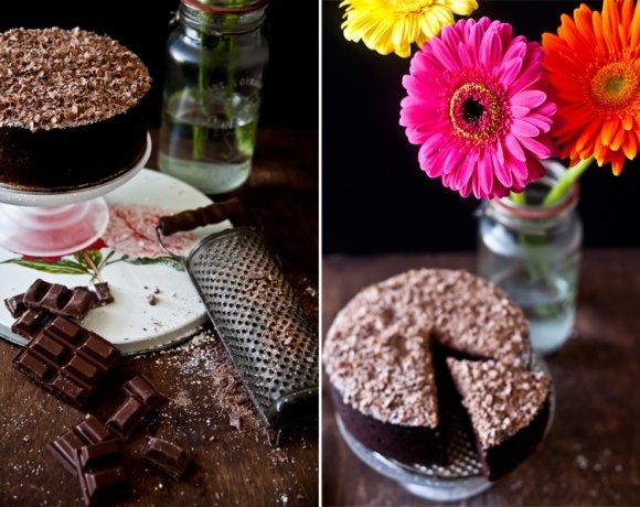 Le Gâteau au Chocolat, amande & biscuits cuillères en prévision d'une tempête!