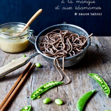 Soba / Mangue et edamame / & Sauce Tahini