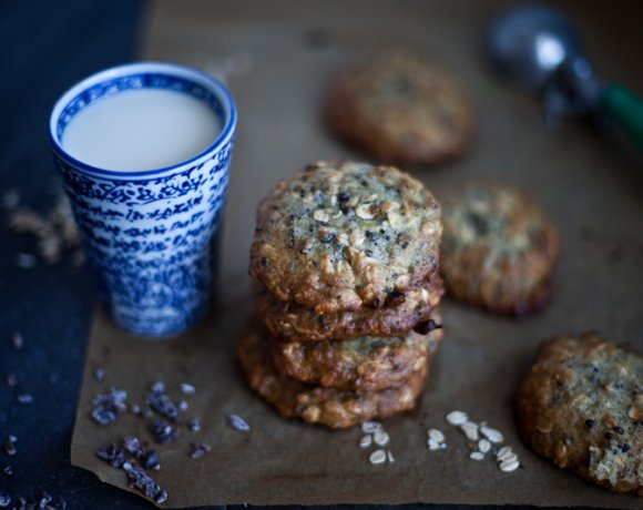 L'Automne ou la saison des goûters réconfortants // Biscuits à l'avoine, Chocolat, Banane & Cardamome.