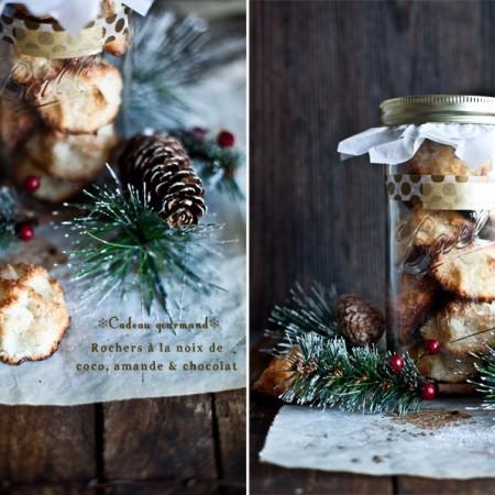 Cadeau Gourmand // Rochers à la noix de coco, amande & Chocolat