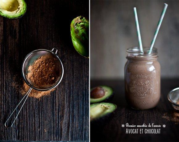 Smoothie à l'Avocat et au chocolat