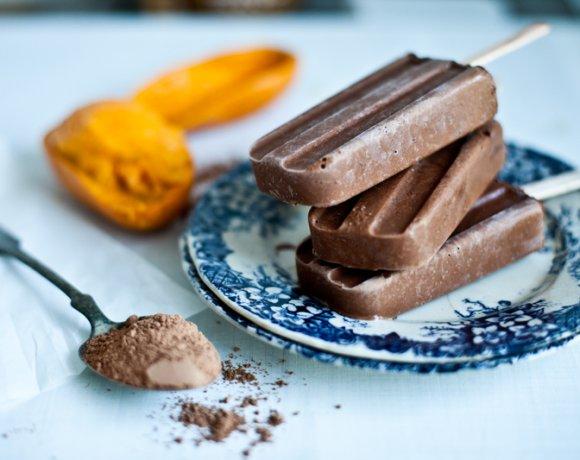 Batonnets glacés au cacao & mangue