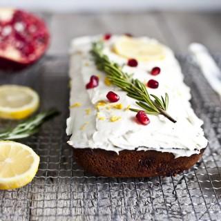 Cake au citron & romarin
