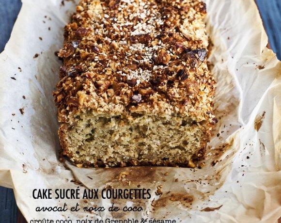 Cake sucré aux courgettes, avocat & noix de coco. Oui, vous avez bien lu!