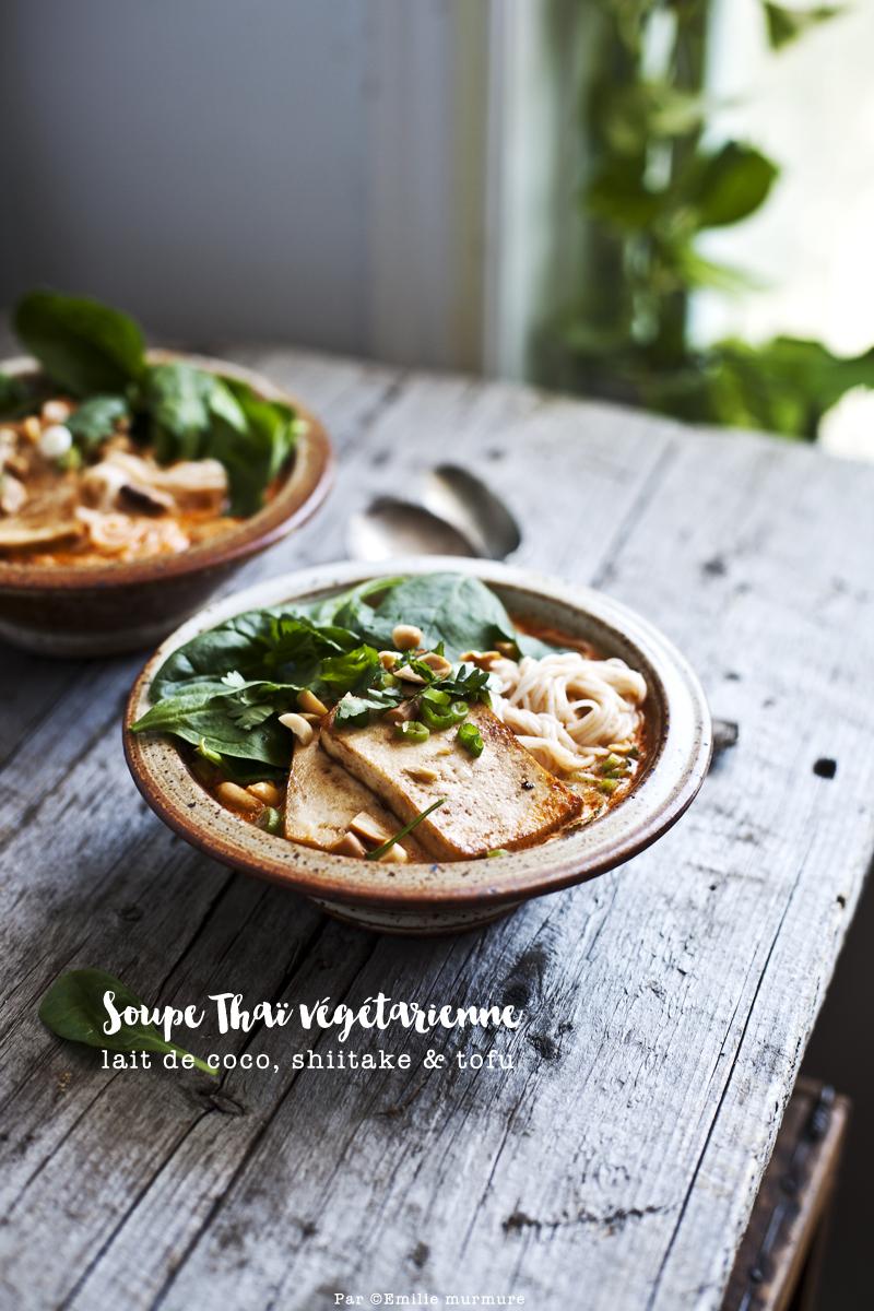 Soupe Thai coco, shiitake & tofu_©Emiliemurmure