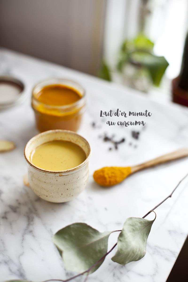 Lait d or minute curmuma gingembre - Comment utiliser le curcuma dans la cuisine ...