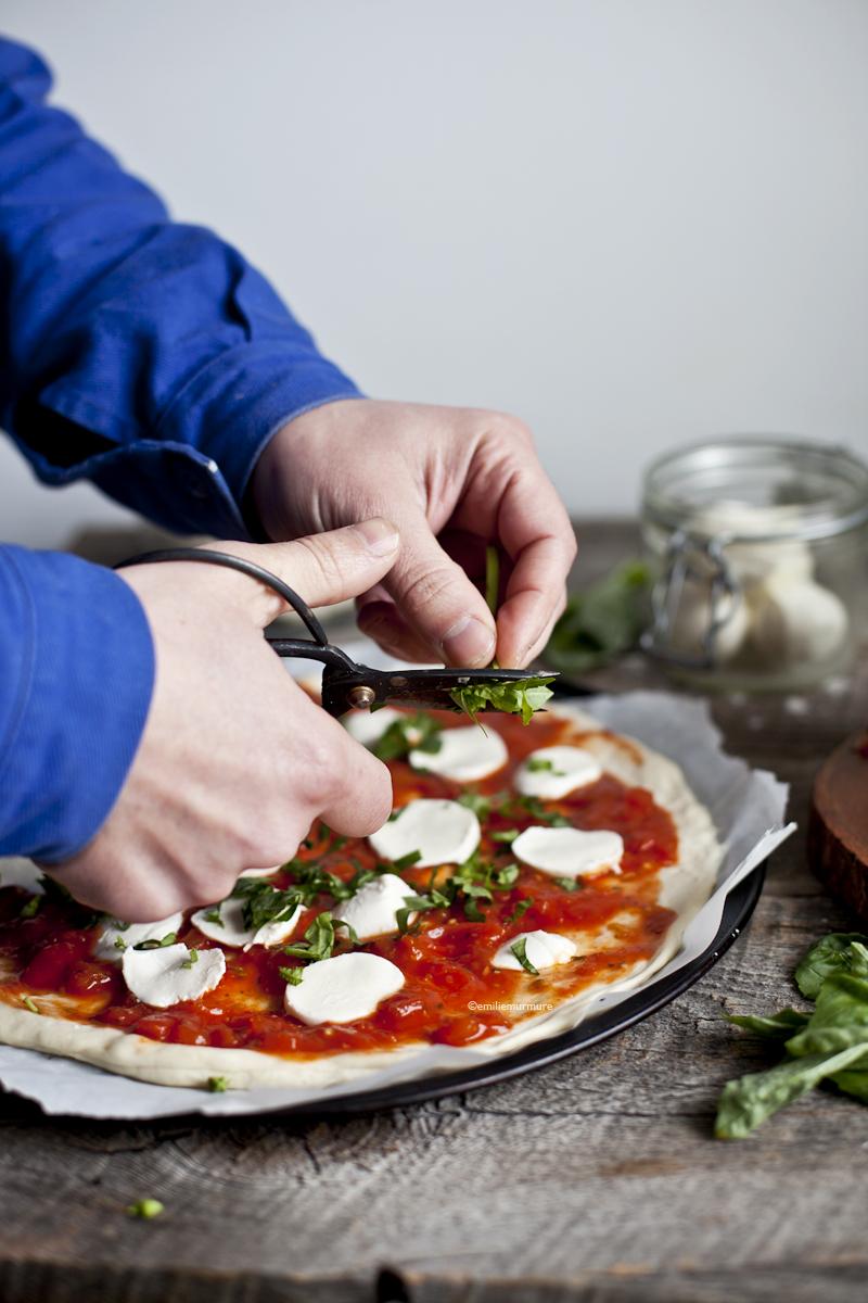 Margharita pizza & Basilic ©Emiliemurmure