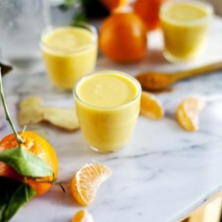 Smoothie aux clémentines, ananas, gingembre et eau d'érable