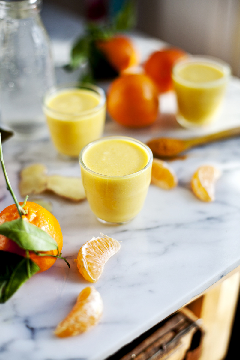 Smoothie ananas, clementine, gingembre & eau d'erable-Emiliemurmure