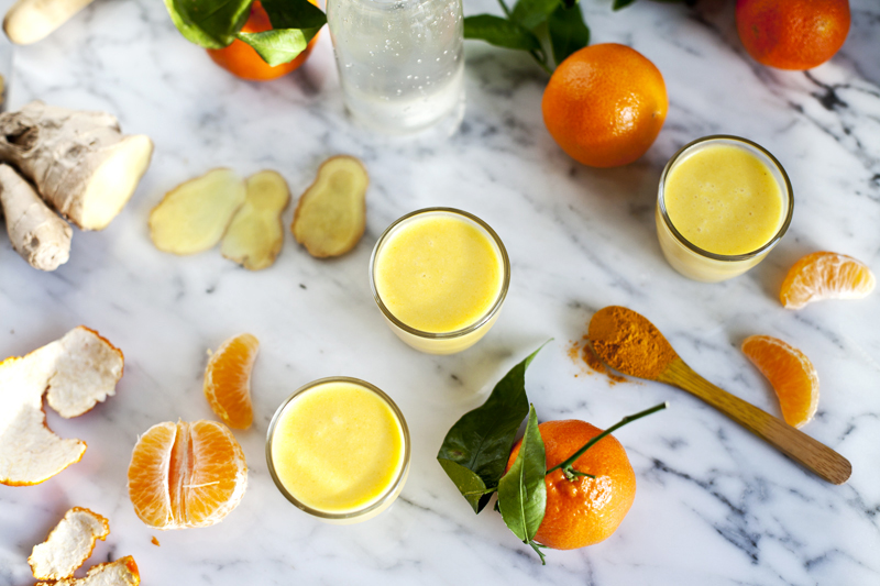Smoothie clementine, ananas, curcuma-Emiliemurmure