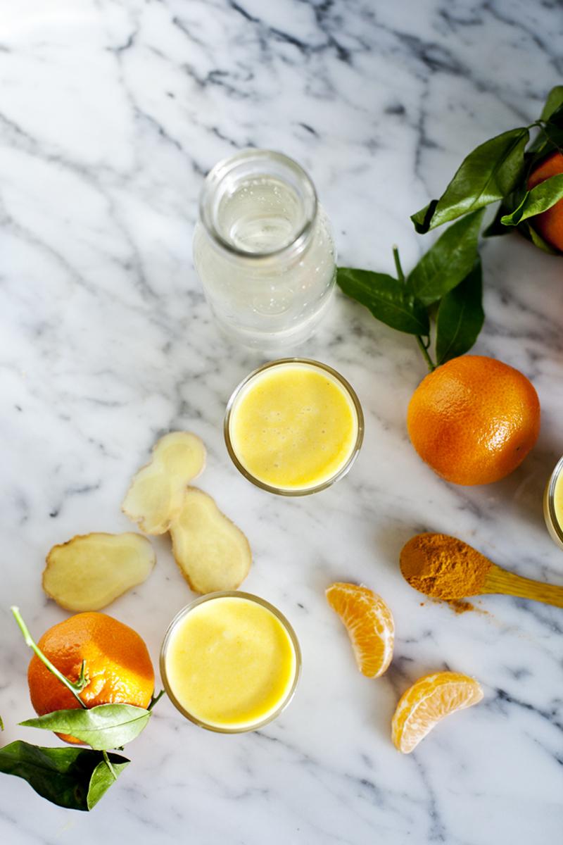 Smoothie clementine, ananas, gingembre et eau d'erable-Emiliemurmure