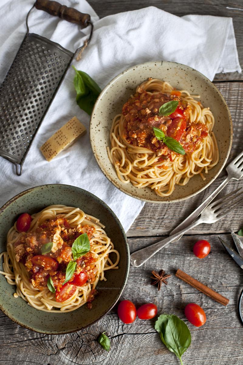 Spaghetti bolognaise au tofu_Emiliemurmure