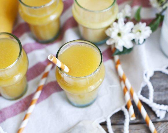 Limonade au thé vert & à la mangue