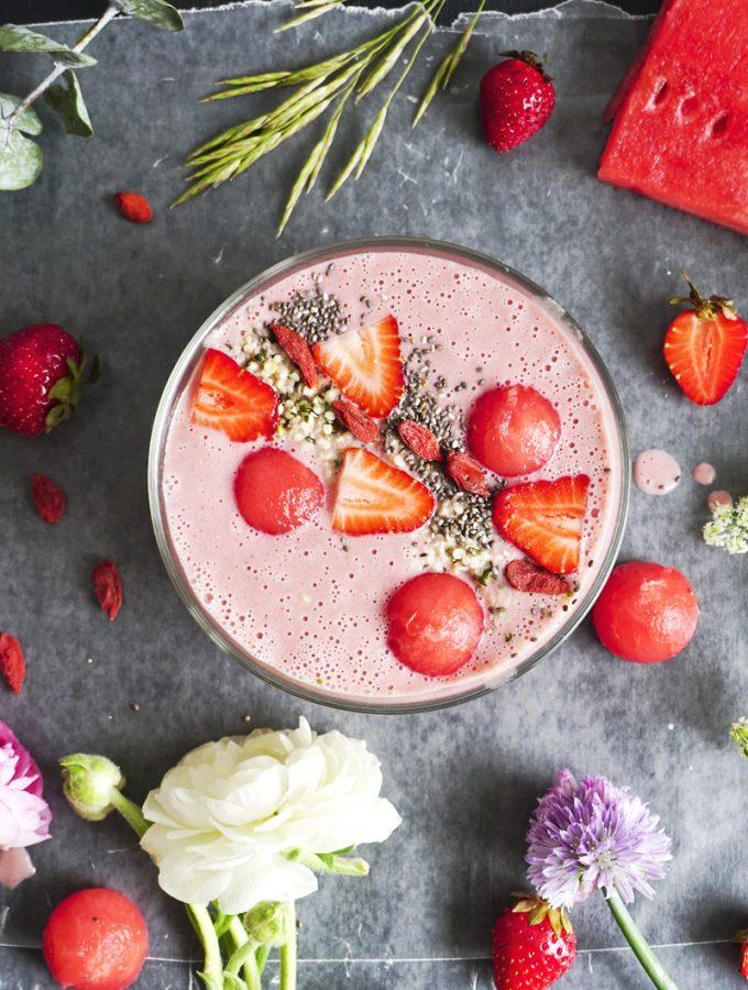 Smoothie fraises et pasteque_Emiliemurmure