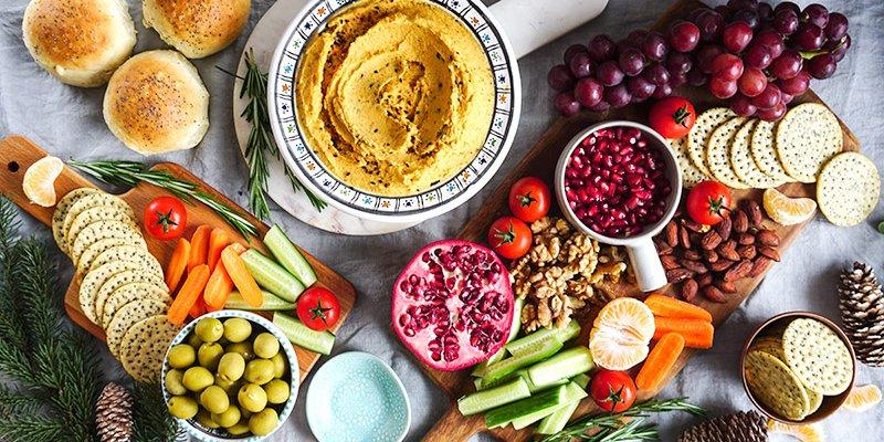Hummus aux patates douces & plateau gourmand à partager