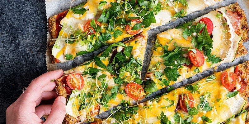 Pizza croûte de chou-fleur