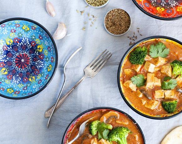 Tofu masala et champignons