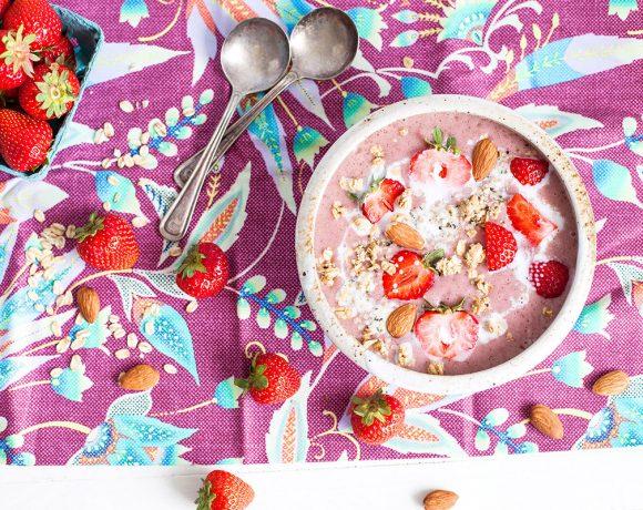 Smoothie aux fraises façon crumble