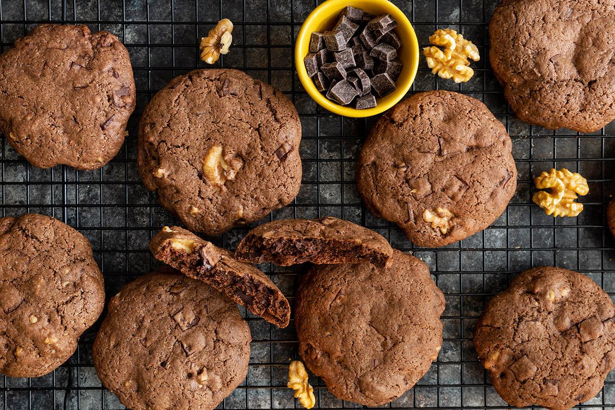 Biscuits style brownie et noix de Grenoble