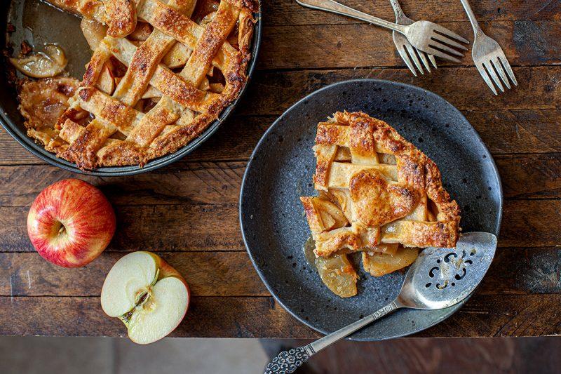Tarte aux pommes et croûte au cheddar